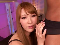 Gorgeous Aika Yumeno on her knees giving a great blowjob