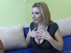 Naughty hot chick Pinky puts on a dildo and fuck sweet hottie Sarah Jay