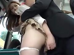 Teen, Asian, Big Tits, Bus, Teen, Voyeur