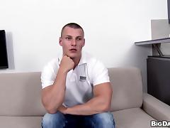 Young buffed gay guy performs flawlessly in this hot casting video
