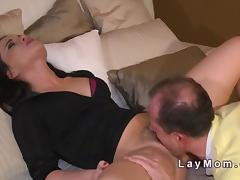 Hairy Milf banged to creampie in bedroom