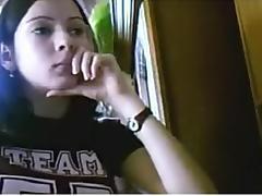 youthful unshaved angel masturbates to cam
