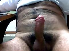 UNCUT HAIRY LATIN DADDY JACKING OFF