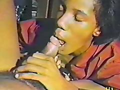 Homemade ebony porno from the 80s with a nice blowjob