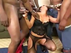 Kaylynn rough black cock gangbang