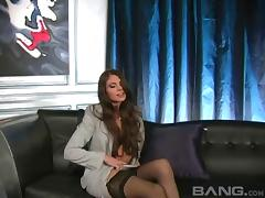Hard fuck for a stunning brunette after a casting interview