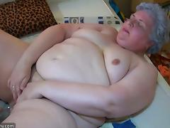 Oldnanny old fat grannies masturbating and enjoying with young girl