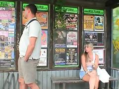 Amateur couple meet in public place and fuck hardcore