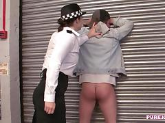 Police, Babe, Big Tits, Blowjob, Boobs, Brunette
