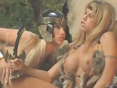 Pleasant Cowgirl With Long Hair Gets Her Anal Drilled Hardcore
