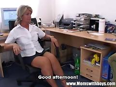 Mom and Boy, Anal, Assfucking, Audition, Blonde, Blowjob