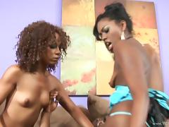 Hot Ebony Cowgirls Share Big Black Cock In Reality