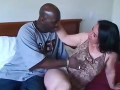 Hot brunette milf gets some black cock