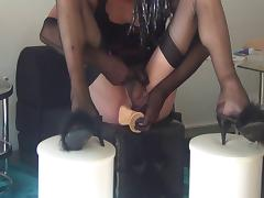 Madam orders me to try a DILDO by sms while she GETS FUCKED