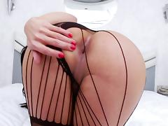 Lovely porn shemale sweetheart gets banged with a hot cumshot