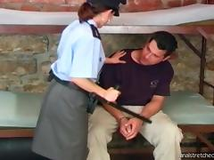 Police officer in stockings fucked hard and anal stretched