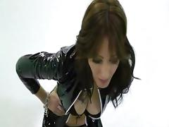 Zoey milf handjob to her tied slave