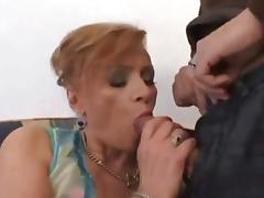 Pretty White Mature's Hairy Cunt Fucked