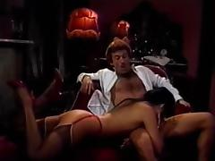 Amber Lynn, Candy Samples, Jenny B. Goode in classic xxx scene