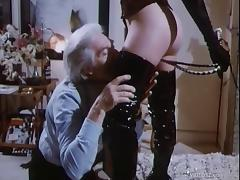 Lustful man finds himself in brutal femdom as his cock is aroused by young lady with skipping rope
