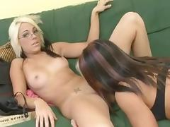 Two Girls Show Their Lesbian Skills