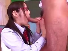 Japanese Schoolgirl Blowjob