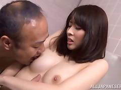 Panty sniffing old man gets head from the girl he fantasizes about