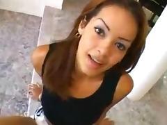Nice busty Latina slut rides a schlong
