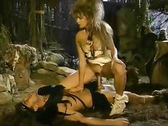 Sabrina Dawn, Randy Spears in 1980's porn video of savage barbarian sex