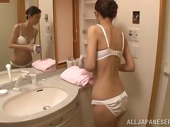 Bath, Asian, Bath, Bra, Couple, Fingering