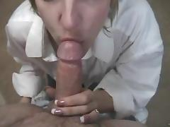 Babe gives hand job and blowjob in sexy hot POV video
