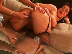 Sexy Latina lesbian with a nice ass getting her wet pussy licked