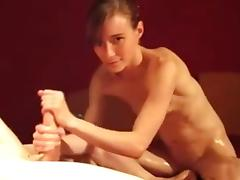Amateur - Hot Hard Nipple Little Tit Skinny Oiled Fuck