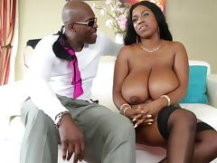 Sexy chat with huge tits black girl Maserati XXX on the couch
