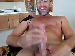Str8 Daddy Cum on Face Webcam
