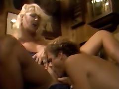 Aurora, Candy Samples, Christy Canyon in vintage porn clip