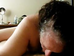 POV - Amateur Granny Sucks Cock