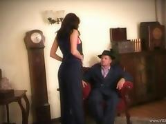 A retro gangster fucks another guy's wife nice and hard