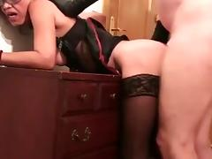 Asian granny likes it in the ass