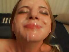 Anita Blue huge facials blowbang