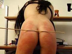 BrutalPunishment Video: Liz's Blush-Red Butt