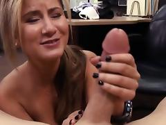 Lovely amateur blonde waitress banged at the pawnshop