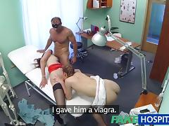 FakeHospital Hot nurse join doctor and patient for threesome