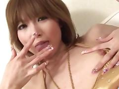 Rika Sakurai Asian milf enjoys cock in her mouth