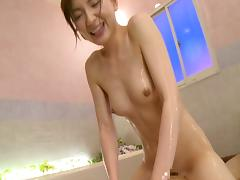 Asian cutie milks a thick boner before being pounded hardcore