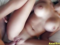 Brunette, Anal, Assfucking, Brunette, Naughty, POV