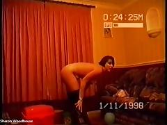 Drunk Housewife Sharon sexy Striptease