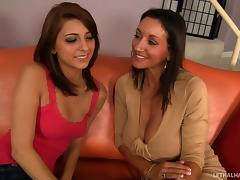 A cute teen slut learns how to fuck from a hot MILF