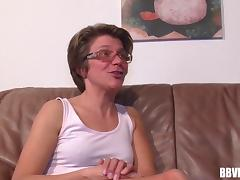 Naughty grandma spits on her fingers then drives them deep in her cunt like the fancy old days