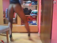 bj tiny in pantyhose high heels